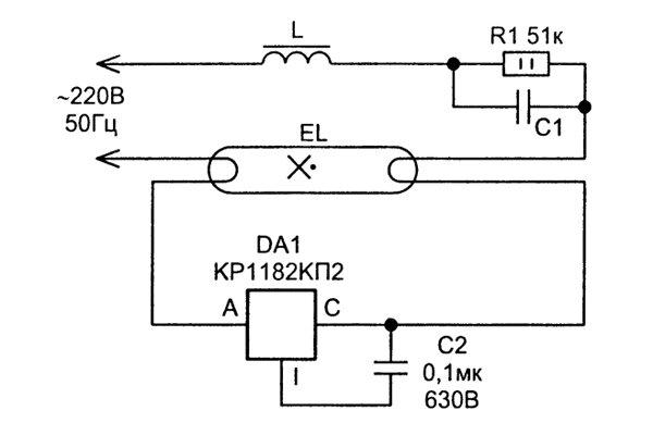 Применение микросхемы КР1182КП2