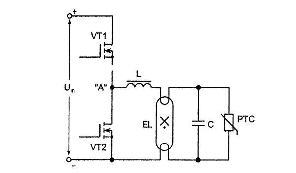 Инвертор электронного балласта
