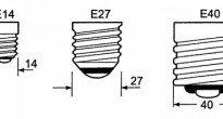 Типовые цоколи ламп накаливания